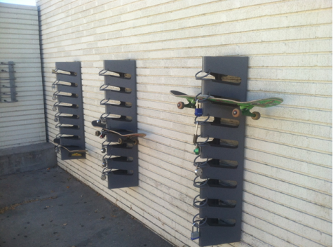 Skateboard rakes located at BCCHS