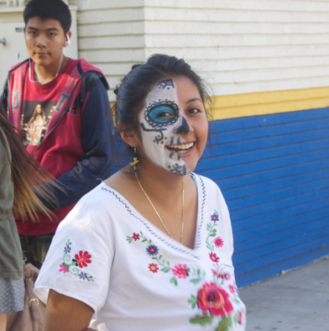 Pres. Vivian Epitacio with Day of Dead make-up--- Photographed by Juan Gonzalez