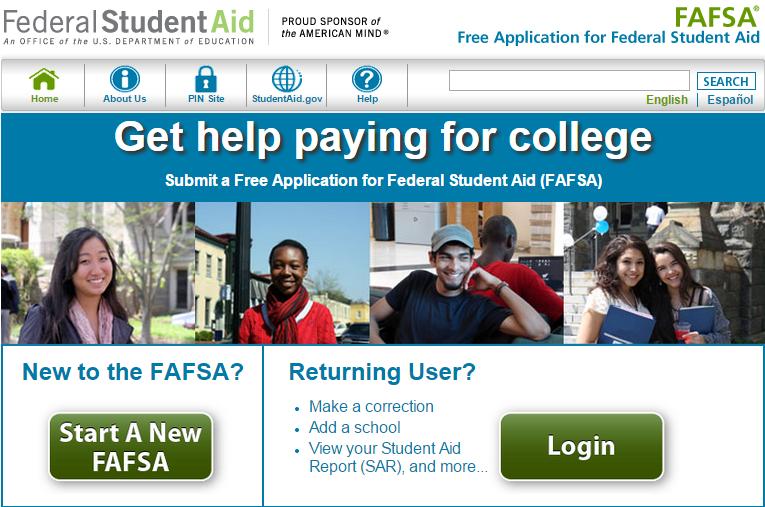 FAFSA+Homepage