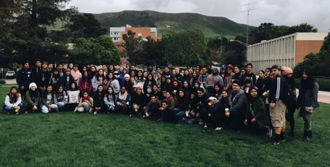 CAL group picture on Cal Poly San Luis-Obispo's campus.