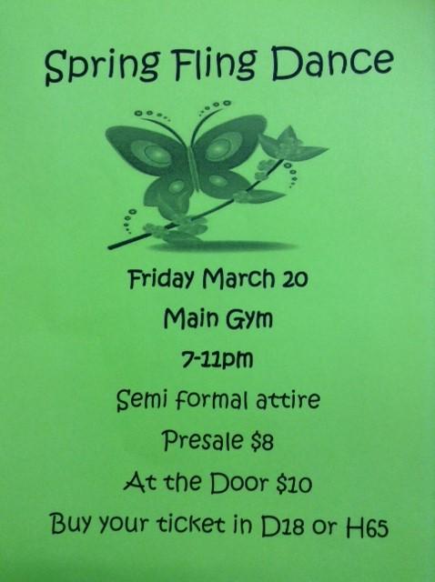 Spring Fling Dance  Information
