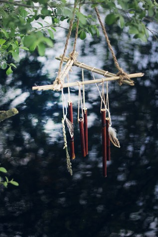 DIY bamboo wind chimes
