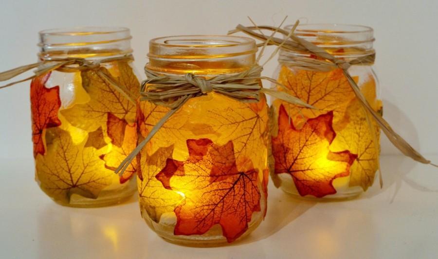 DIY Autumn Candle