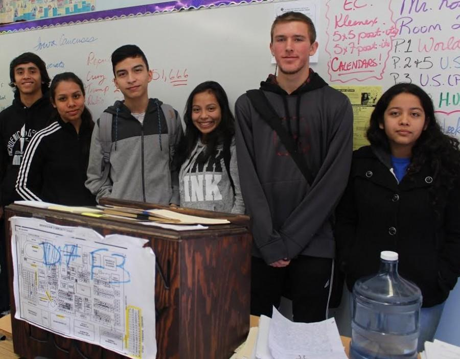 (From left to right) Christopher Usher, Bita Alvizo, Jose Reyes, Alexa Salas, Andre Prystupa, Nancy Rodriguez