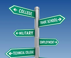 The many paths someone can take after high school.