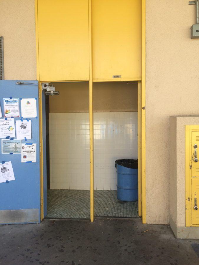 The bathroom in E-hall