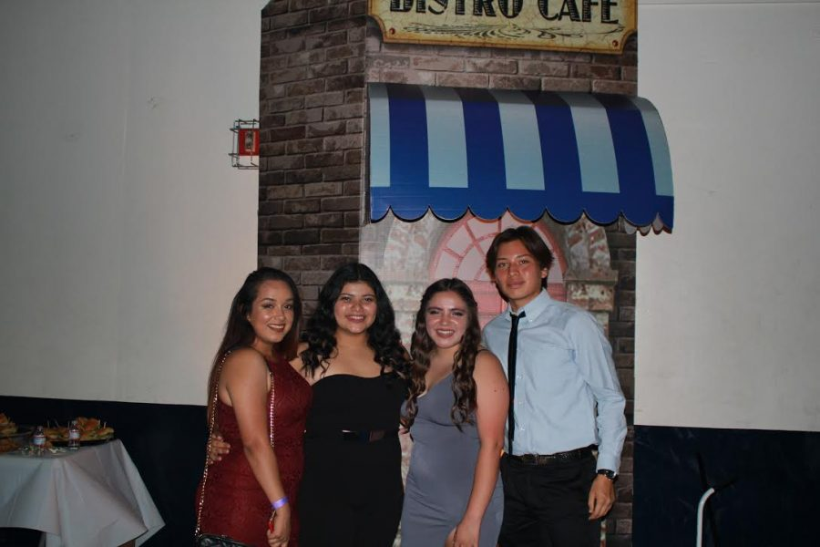 Left to Right- Karen Villacorta,Helen Umana, Jessica Ramirez, Andrew De Leon