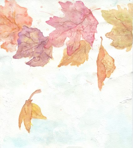 """Autumn Delicacy""  by Kaylee Dargento (12); Medium: mixed - watercolor, (white) acrylic, and colored pencil"