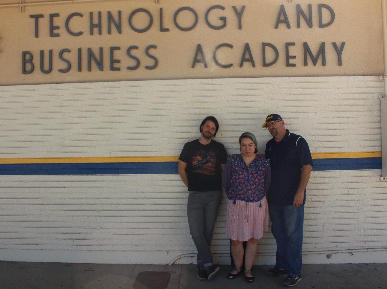 Left to right: Mr.Stone, Ms.Henneman, Mr.Monaster(Lead Teacher of Tech & Biz)