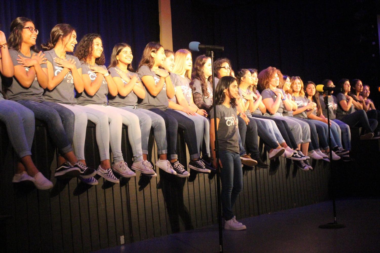 The BCCHS Women's Choir singing