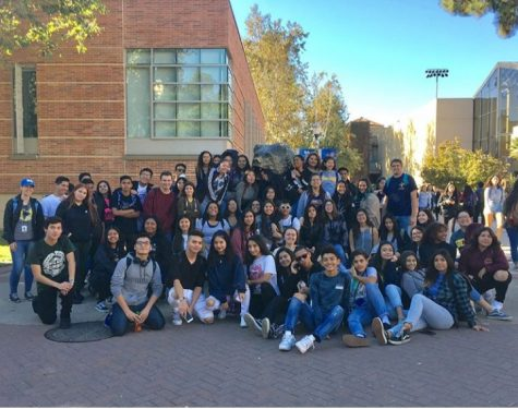 The sophomore academy during their college field trip to CSUN.