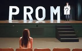 Promposals and prom dresses.