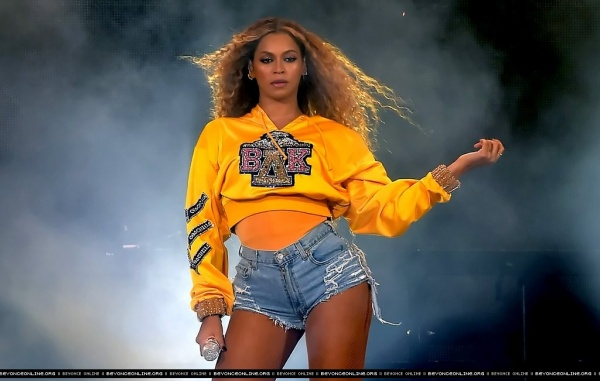 Beyoncé striking her iconic pose at Coachella