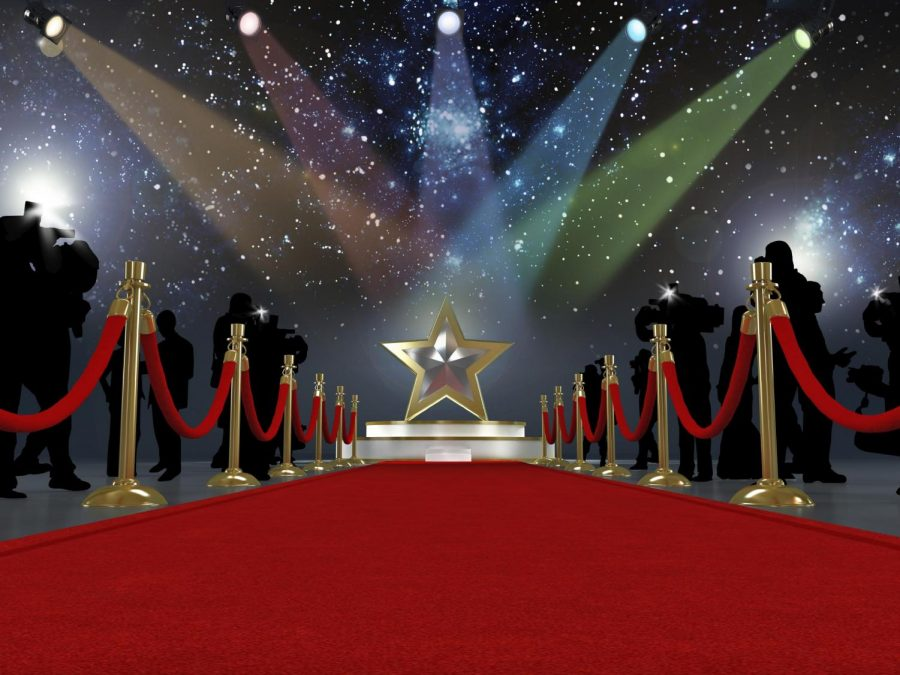 The red carpet that actors walk on