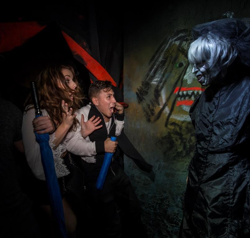 Theme Parks get in the spirit of Halloween by setting up Haunted Houses and hiring scare actors to create a memorable, thrilling experience for its visitors.