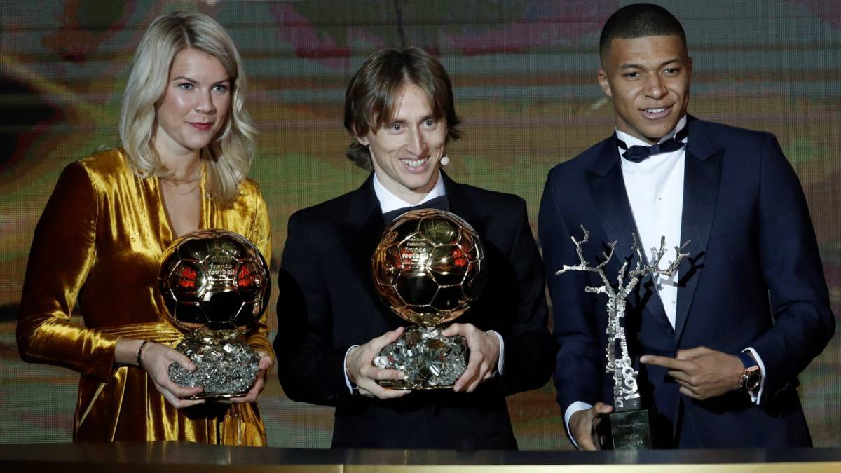 2018 Ballon D'or Awards go to Hergberg, Modrić, and Mbappe.