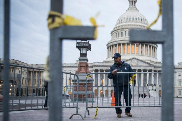 A maintenance worker outside the Capital