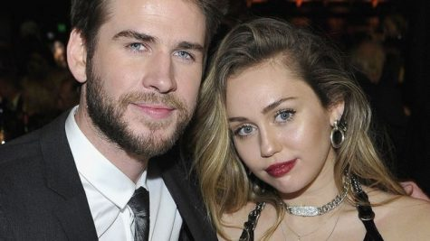 Liam Hemsworth and Miley Cyrus at a premiere together before they separated.