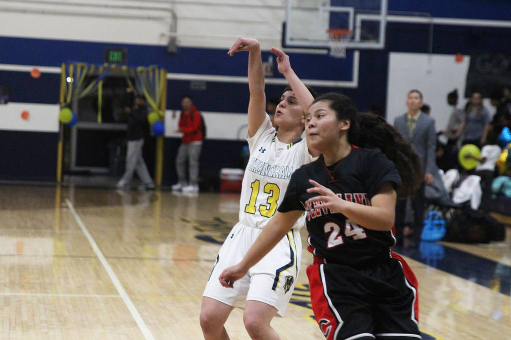 Pictured is BCCHS basketball player Bita Hashemi (10)