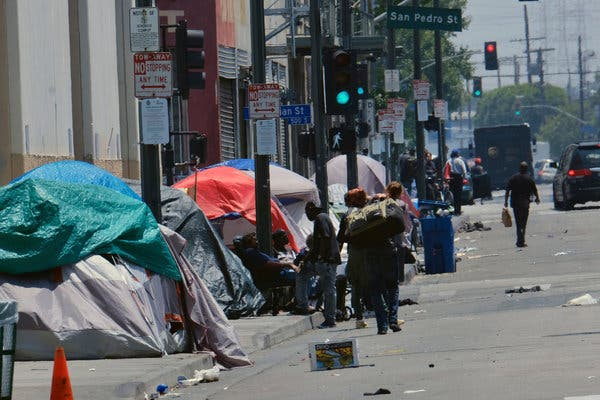 Widespread Homelessness In Los Angeles Increasing