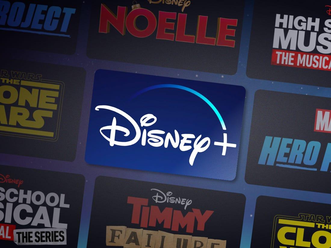 Disney+ logo surrouned by it orignal content.