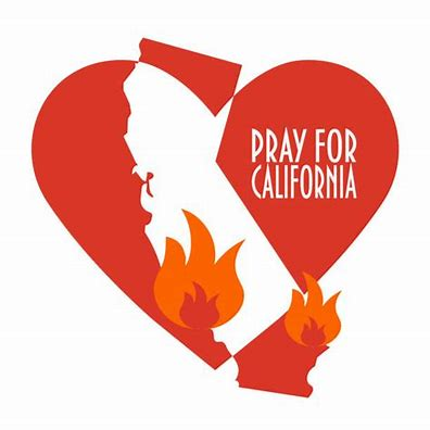 This image represents all the broken hearts of many Californians as each fire season arrives and damage is done.