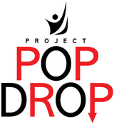 The official logo for Project Pop Drop, the organization Birmingnham is collaborating with