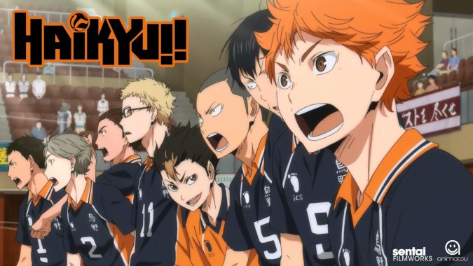 The Karasuno crows preparing for their upcoming match.