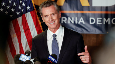 California governor Newsom speaks after winning the recall election.