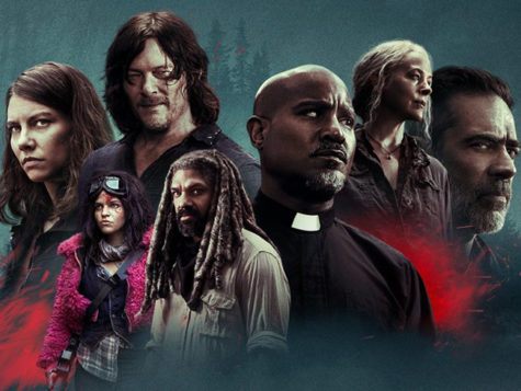 Season 11 poster featuring returning characters Maggie (right), Daryl (top right), Carol (top left), Negan (left), Gabriel (center), Princess (bottom right), and Ezekiel (bottom center).