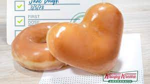 Anyone who shows their COVID-19 vaccination card at Krispy Kreme will receive a free original glazed donuts.