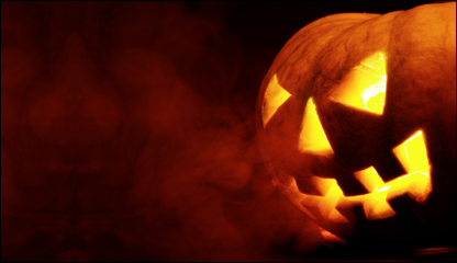 Scary jack olanterns are featured at several Halloween attractions in the Los Angeles area.