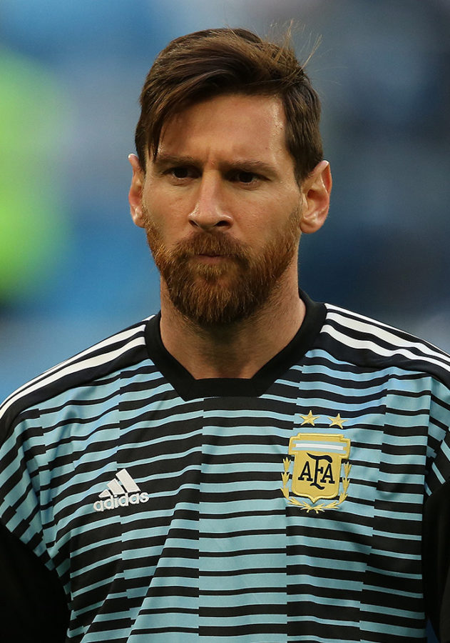 Messi playing for the Argentina National Team